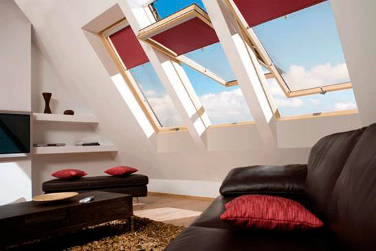 Roof windows decor