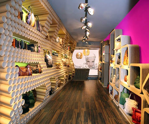 Mititique boutique shoes store modern decoration for Boutique deco