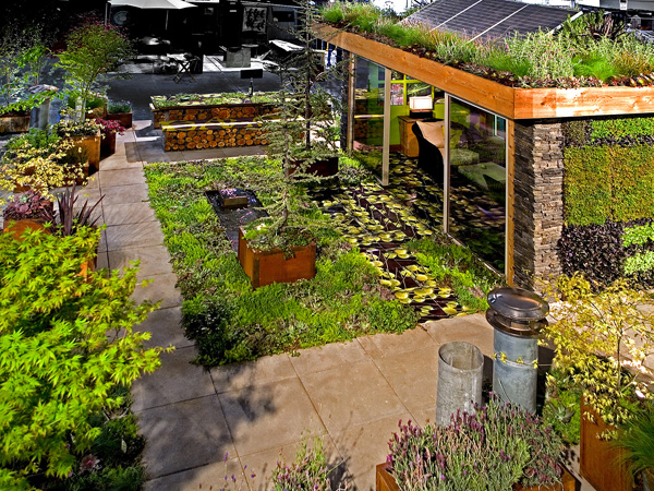 Roof garden ideas tips modern home exteriors for Rooftop garden designs