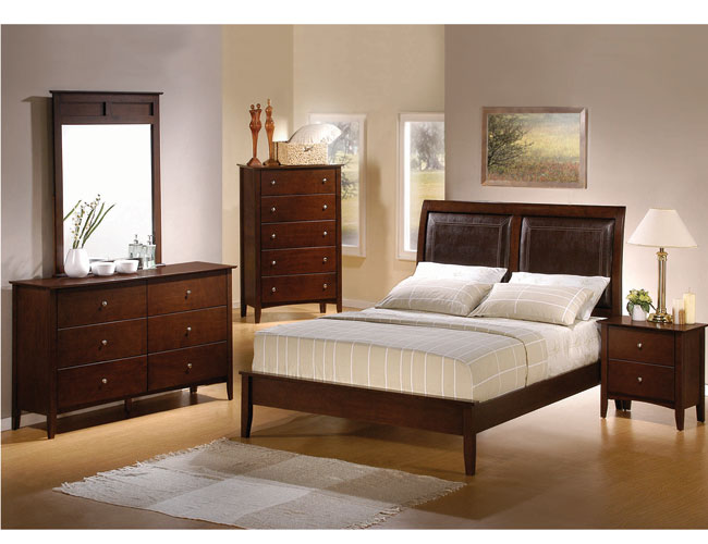 Solid dark wood furniture at the galleria for Bedroom ideas dark wood