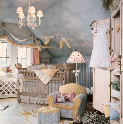The decor of the nursery room | Home Decor Idea | Interior Design and