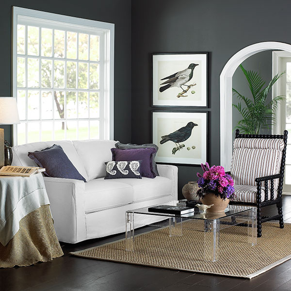 Decorating with Gray and Purple 600 x 600