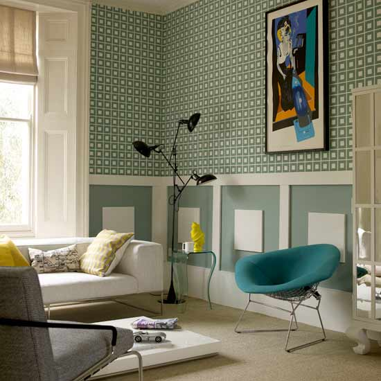 Retro decorating style the man cave for Retro style living room ideas