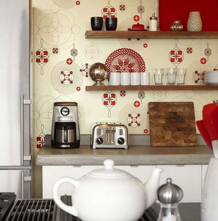 Decorate Kitchen With Wallpaper The Man Cave