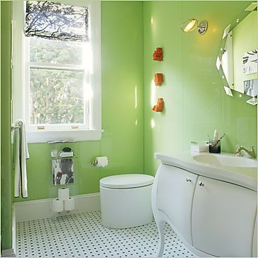 Green bathroom decor the man cave for Green bathroom ideas