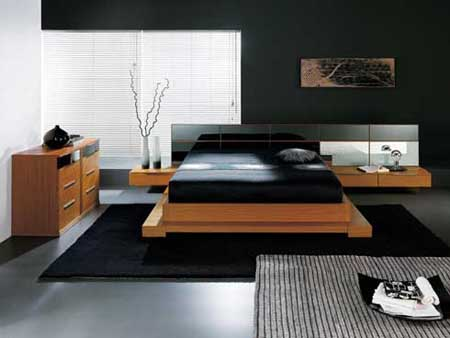 many rooms have modern color scheme using a high contrast it is very