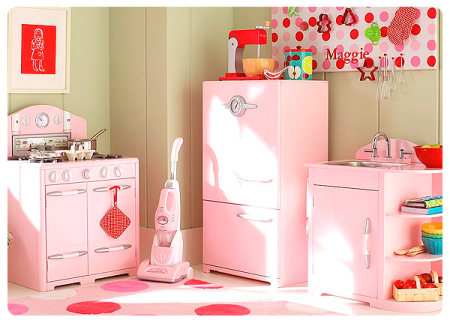 Decor concept paint the kitchen in pink the man cave for Kitchen decoration pink