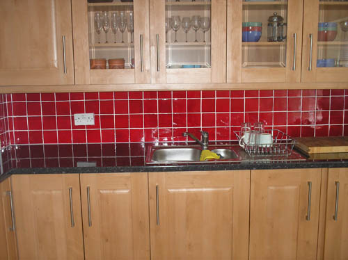 Painted tiles an option in the kitchen the man cave - Kitchen design tiles ...