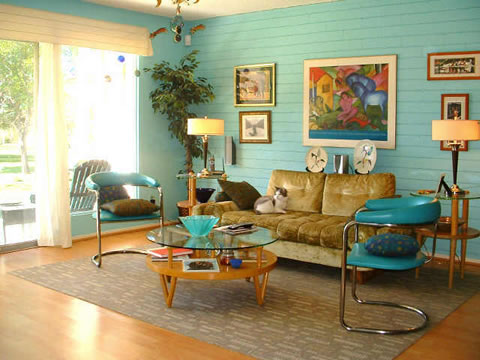 Retro decor the man cave for Living room ideas vintage