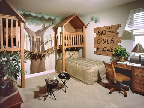 rooms of fantasy decor for kids the man cave