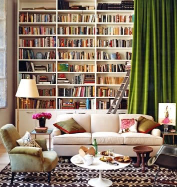 relaxing reading room decoration
