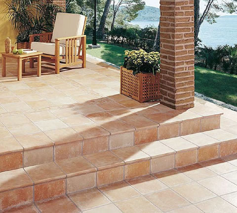 Outdoor flooring the man cave for Azulejos para patios exteriores