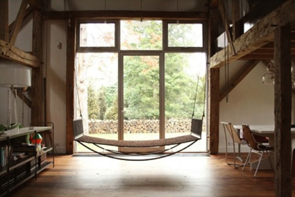 Hammocks in the decoration