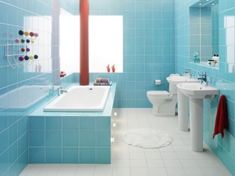 full strong bathroom color