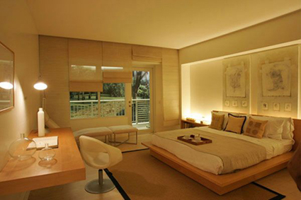 bedroom with wood